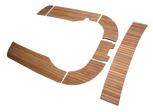 Slatted panels kit